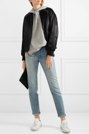 Valentino The Rockstud embellished satin bomber jacket