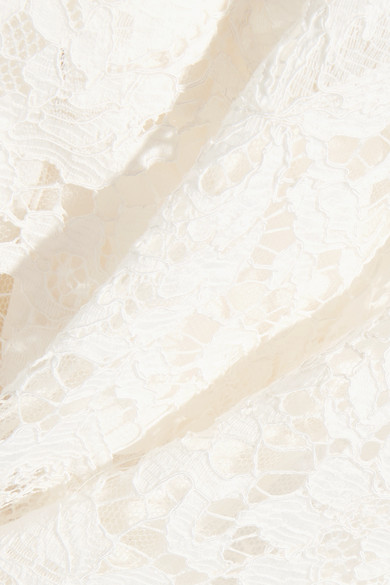 Valentino Verkürzte Hose mit weitem Bein aus schnurgebundener Guipure-Spitze aus einer Baumwollmischung