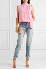 Valentino Draped silk crepe de chine top