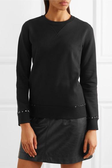 Valentino Rockstud Sweatshirt aus Baumwoll-Jersey