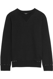 Rockstud cotton-jersey sweatshirt