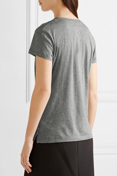 Valentino Rockstud verziertes T-Shirt aus Baumwoll-Jersey