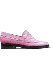 MR by Man Repeller The Alternative to Bare Feet embossed velvet loafers