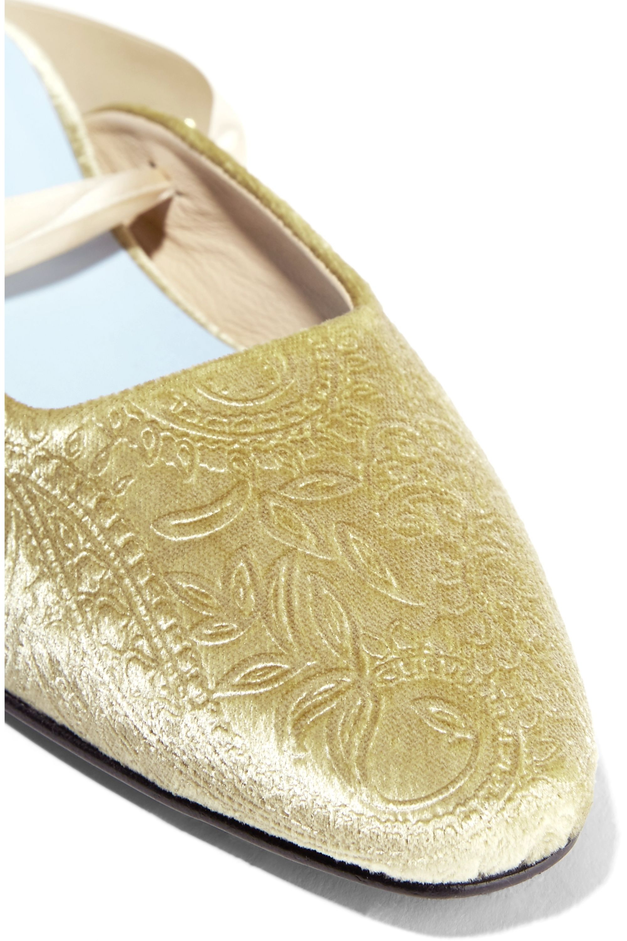 MR by Man Repeller The Morning After embossed velvet flats