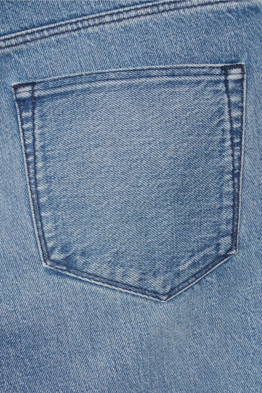 3x1 WM3 Crop Fringe halbhohe Jeans mit geradem Bein