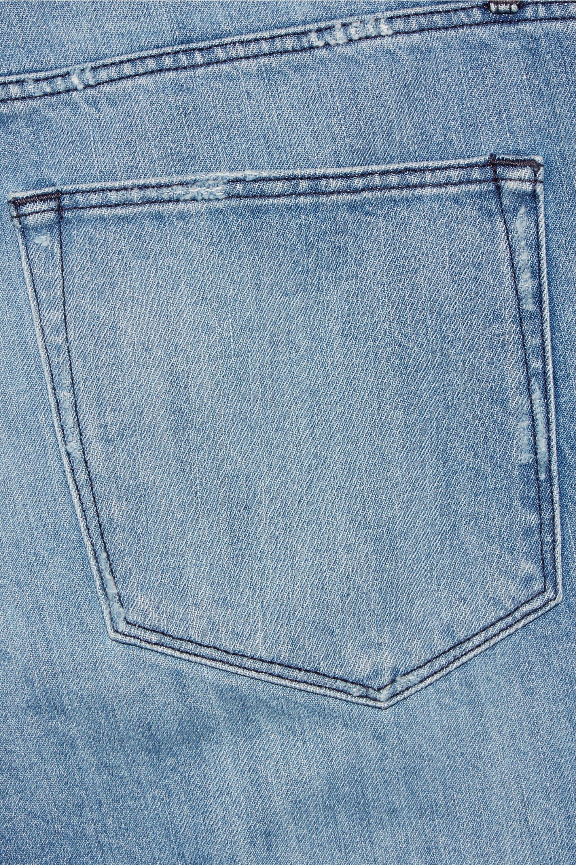 3x1 WM3 Crop Fringe distressed mid-rise straight-leg jeans