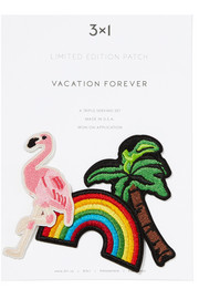 Vacation Forever set of three embroidered cotton patches