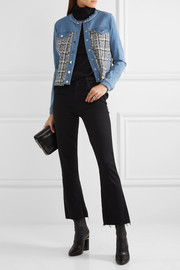 Karl Lagerfeld Denim and bouclé-tweed jacket