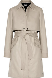 Ikonik convertible gabardine trench coat