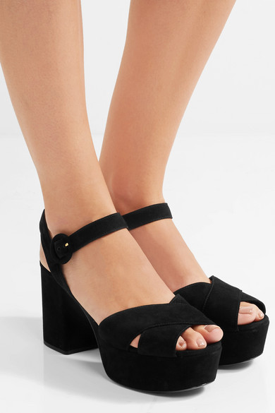 purchase cheap online brand new unisex sale online Prada Platform Suede Sandals supply online sale for nice sale latest collections 7dpqWVMdJ