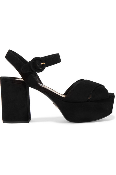 Prada Suede Platform Sandal under $60 sale online cheap 100% original buy cheap big discount 2014 new vVjL7Ohaq