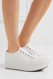 Linea Rossa leather platform sneakers