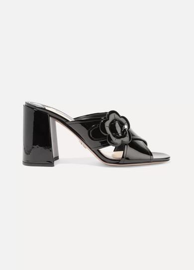 Prada Patent Leather Mules h10kT