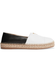 Prada Two-tone leather espadrilles