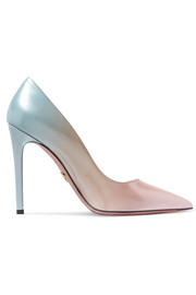 Ombré patent-leather pumps