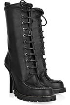 Tory Burch Lace-up leather calf-length boots