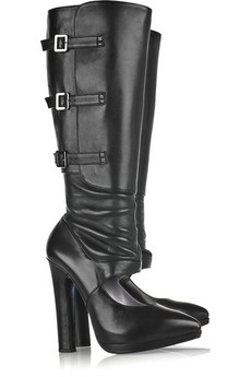Versace | Cutout leather boots | NET-A-PORTER.COM from net-a-porter.com