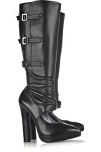Versace Cutout leather boots