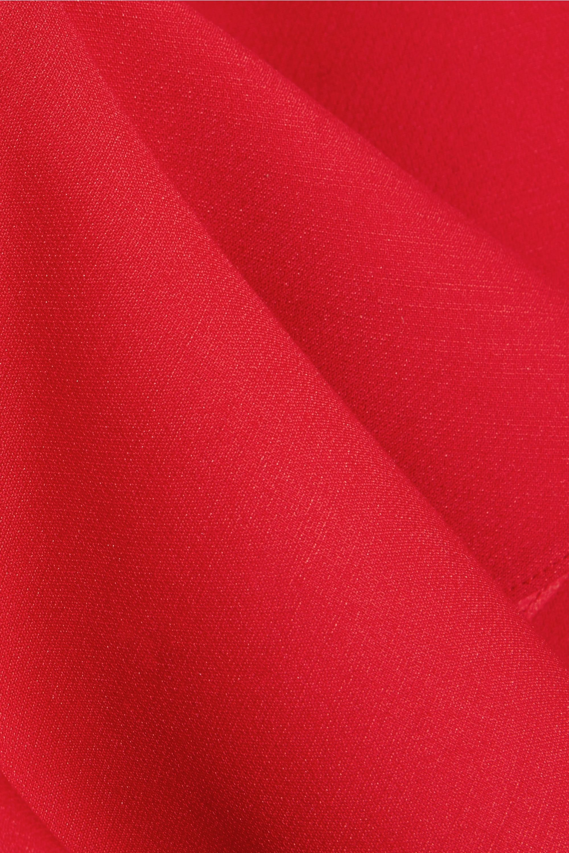 Valentino Ruffle-trimmed wool and silk-blend mini dress