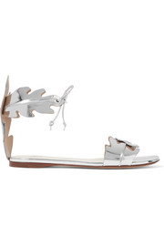 Mirrored-leather sandals