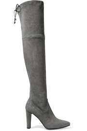 Highstreet stretch-suede over-the-knee boots