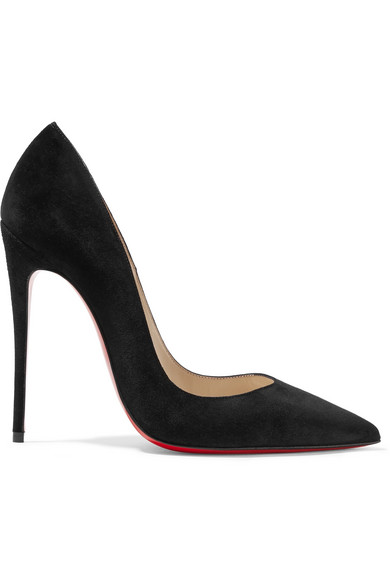 christian louboutin female christian louboutin so kate 120 suede pumps black