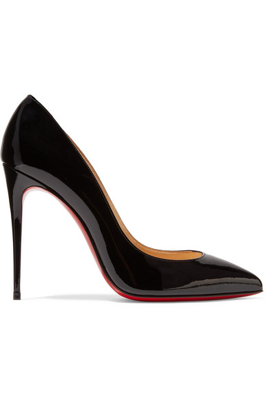 christian louboutin female christian louboutin pigalle follies 100 patentleather pumps black