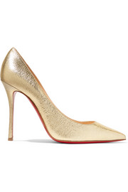 Christian Louboutin Decoltish 100 textured-leather pumps