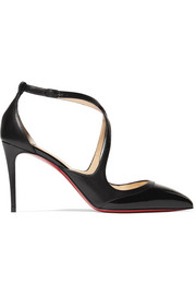 Christian Louboutin Crissos 85 matte and patent-leather pumps