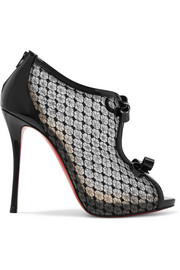 Christian Louboutin Empiralta 120 bow-embellished embroidered mesh sandals