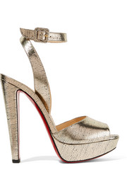 Christian Louboutin Louloudancing metallic leather platform sandals