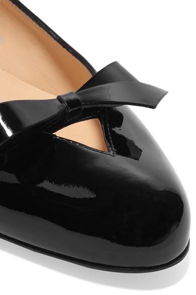 Christian Louboutin Vinodo Ballerinas aus Lackleder mit Schleifenverzierung
