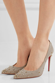 Christian Louboutin Degraspike 100 spiked canvas pumps