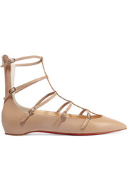 Christian Louboutin Toerless Muse buckled leather point-toe flats