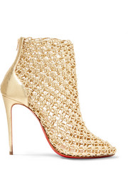 Christian Louboutin Andaloulou 100 metallic leather ankle boots