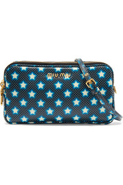 Miu Miu Printed textured-leather camera bag