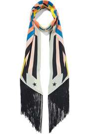 Givenchy Fringed printed silk crepe de chine scarf