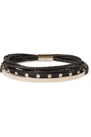 Givenchy Gold-tone and leather choker