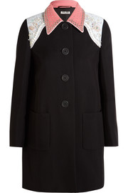 Embellished cady coat