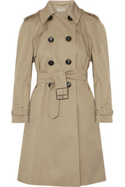 Miu Miu Belted cotton-blend gabardine trench coat