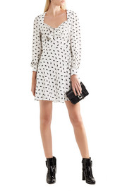 Miu Miu Printed silk-crepe mini dress
