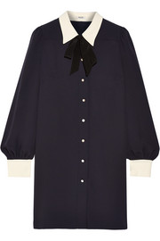 Sable georgette shirt dress