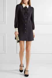 Miu Miu Sable georgette shirt dress