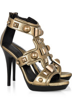 Burberry Prorsum Studded metallic leather sandals