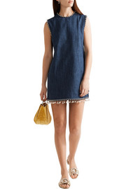 Miu Miu Embellished denim mini dress