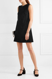Miu Miu Studded suede mini dress