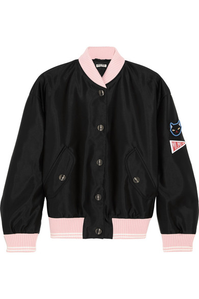 Miu Miu crystal embellished satin bomber jacket Outlet Official Site Clearance Find Great Low Cost Clearance With Credit Card Pay With Paypal Cheap Price t2XSDFio
