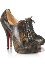 Christian Louboutin Trous 120 python lace-up ankle boots