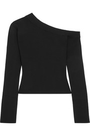 Solace London Kelsey one-shoulder stretch-knit top