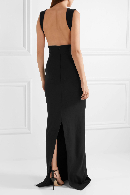 Solace London Dalia stretch-crepe gown
